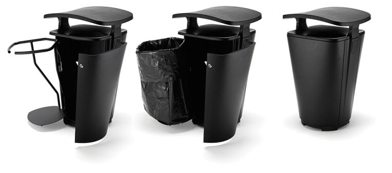 Avfallsbeholder monolit funksjon